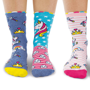 Unicorn Daze Tweens' OddSocks (shoe size 12-5½)
