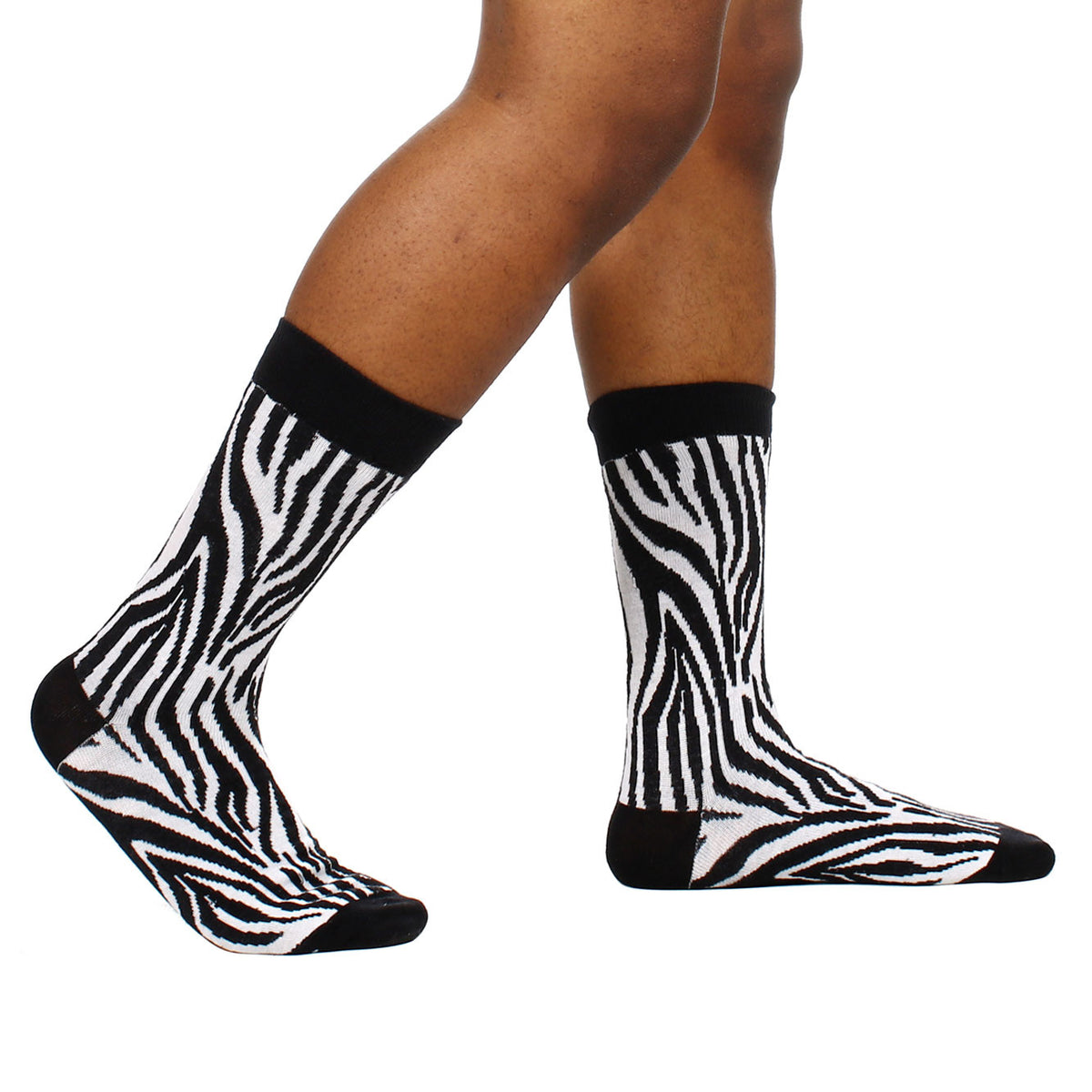 Zebra Stripe Print Socks