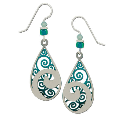Earrings by Adajio, Dangling Waves