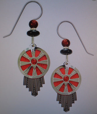 Earrings by Adajio, Dreamcatcher in red, IR, and HEM