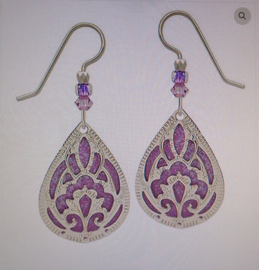 Earrings by Adajio, IR Teardrop Over Purple