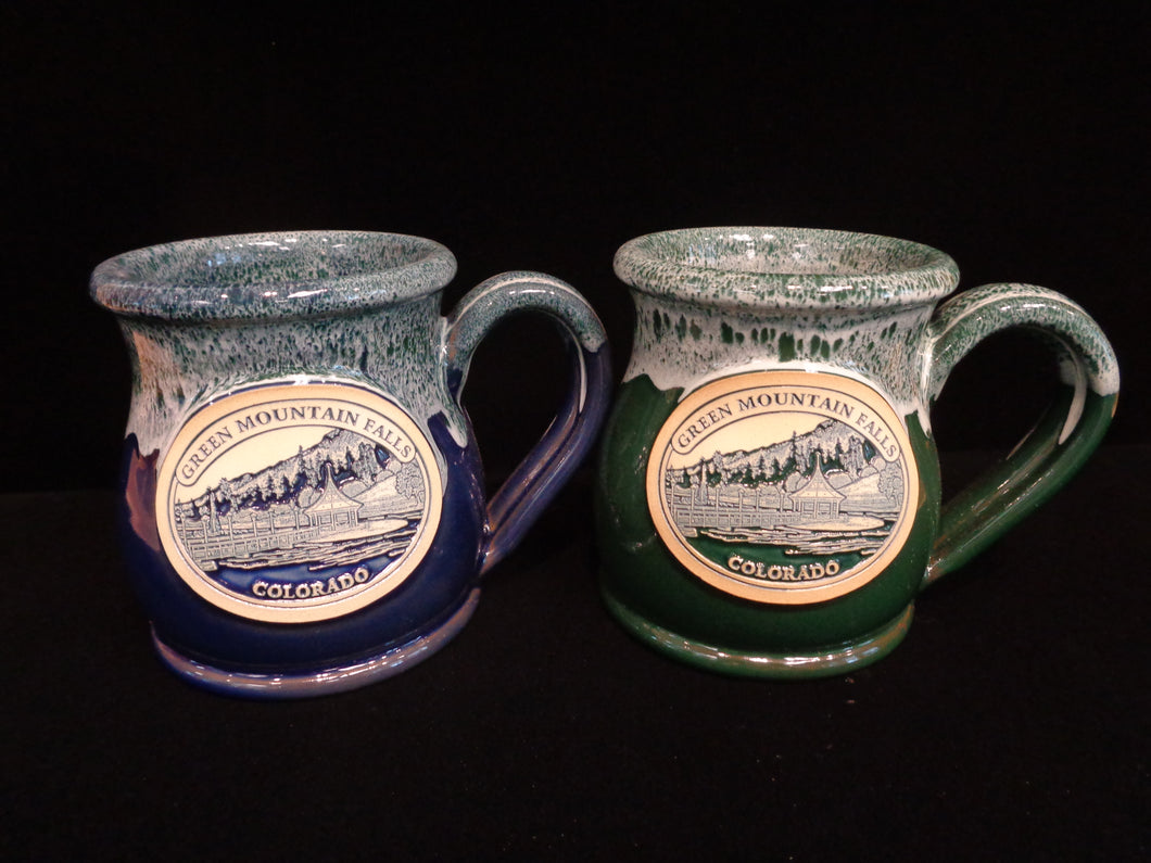 *NEW* Green Mountain Falls Round Belly Mugs, Set of 2
