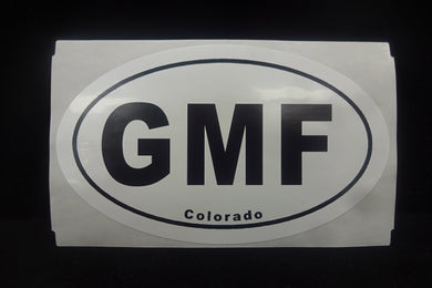GMF Oval Bumper Sticker