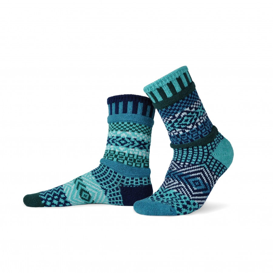 Solmate Crew Socks, Evergreen