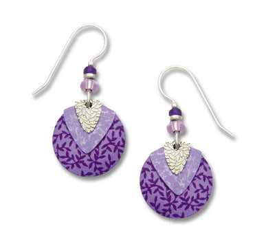 Earrings by Adajio, Purple Disc & Violet Shield w/IR Leaf Shield Overlay
