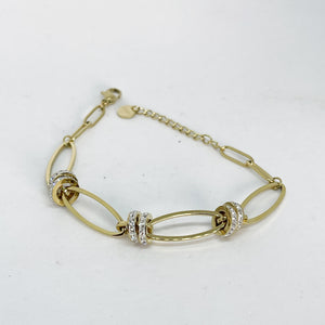 Bracelet Royal 3 Double Cercles Cristaux