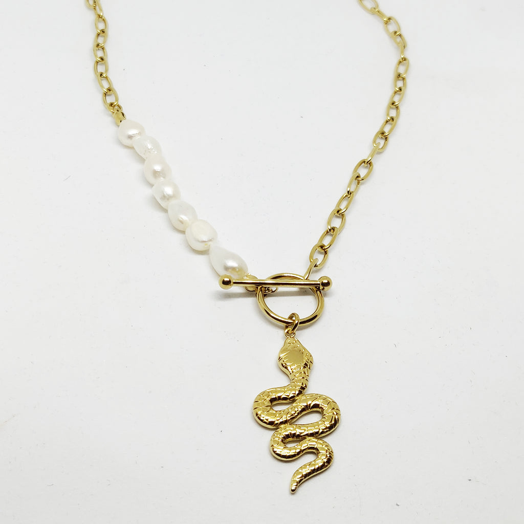 Collier Rond et Serpent