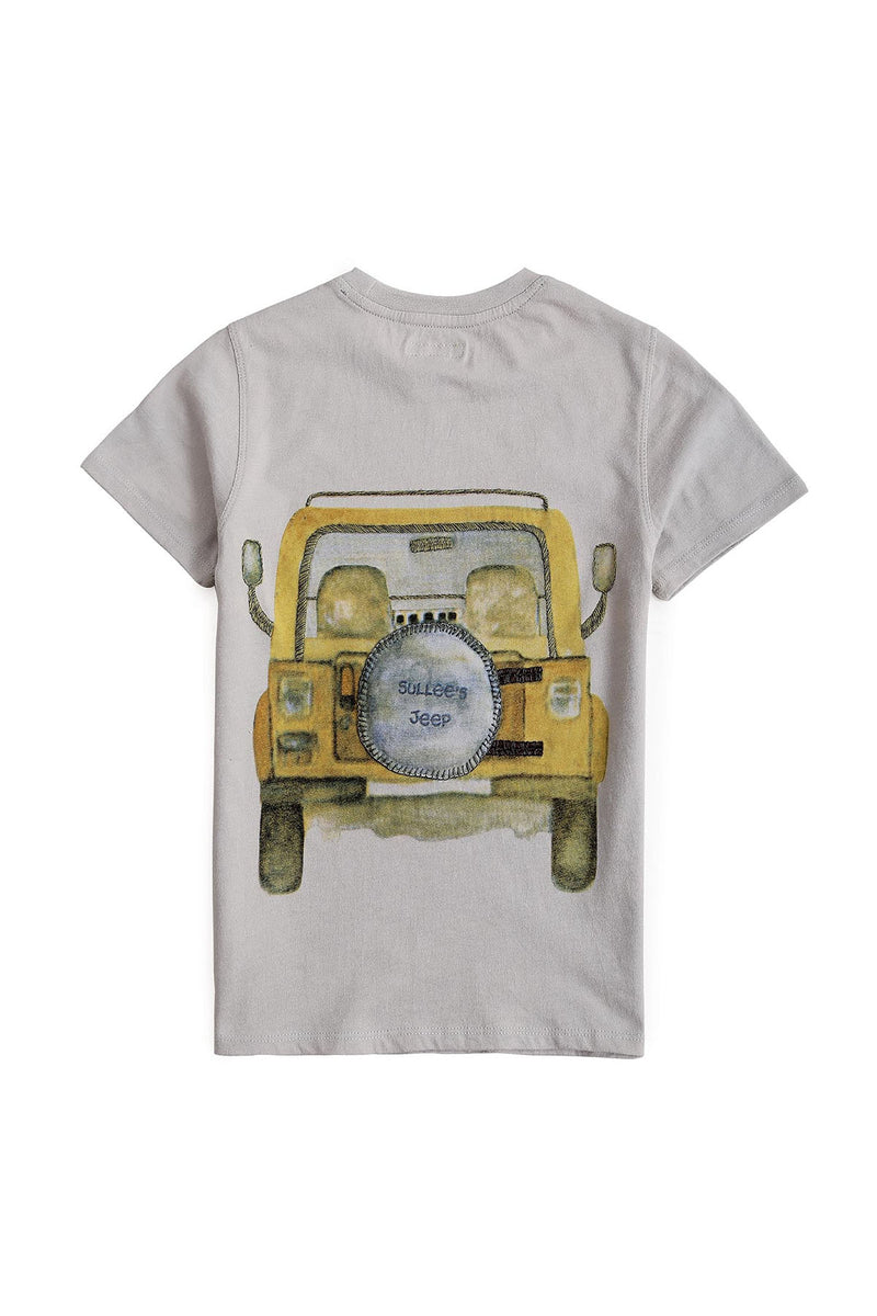 Beeping Jeep Grey Tee - UNNUSULLEE