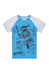 Action Foodies, T-Shirt (Frosty Blue) - UNNUSULLLEE