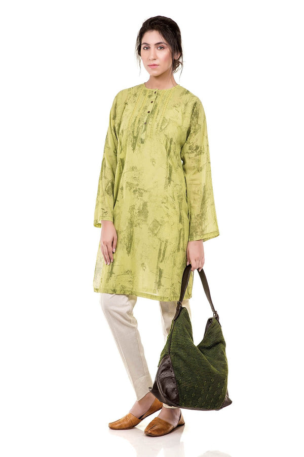 Traces Of Life, Kurta - Fern Green - SHUBINAK.COM