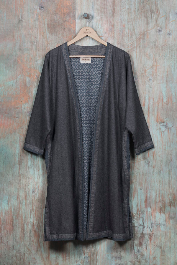 Tribal Gown - Charcoal - SHUBINAK.COM
