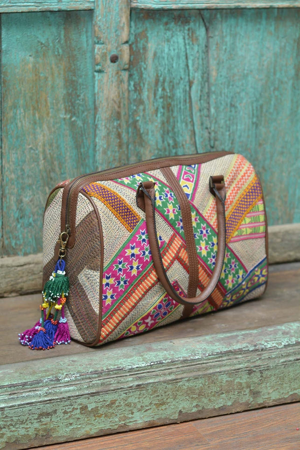 UNITED PATCHWORK DUFFLE BAG - SHUBINAK.COM
