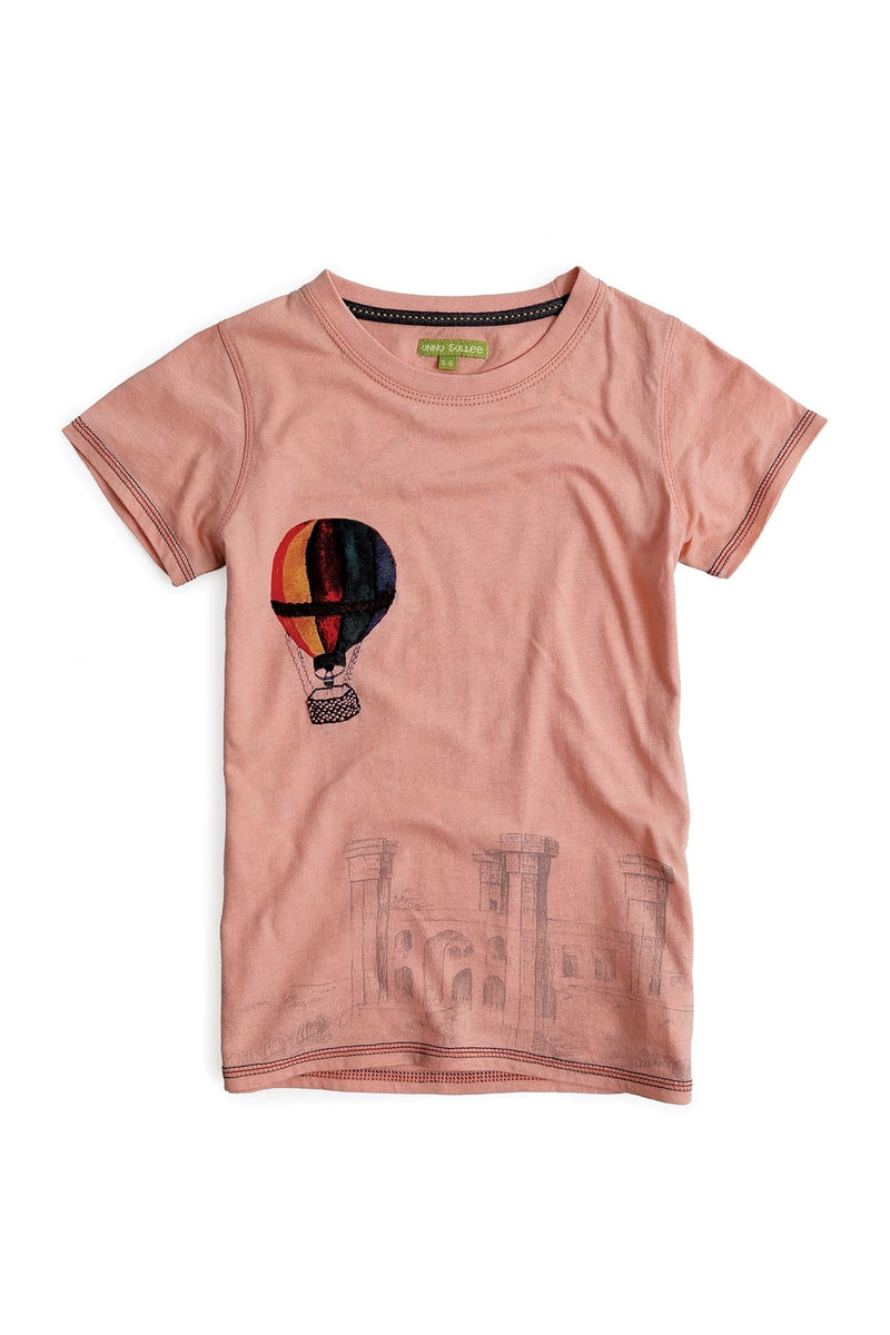 Fly Girl Peach Tee - UNNUSULLEE