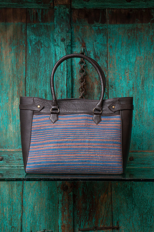 Weaved Leather Bag - SHUBINAK
