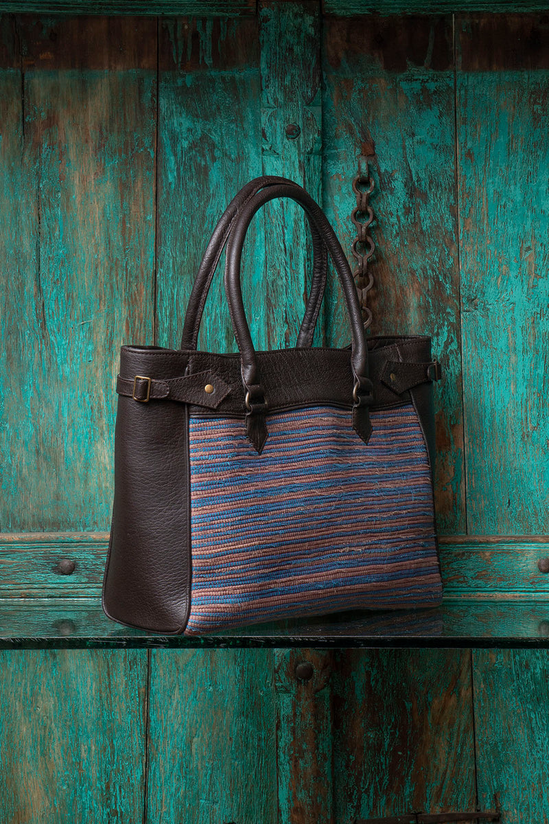 Weaved Leather Bag