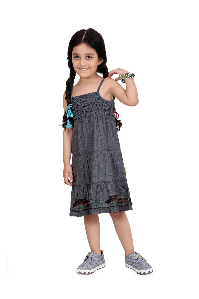 Fudge Fun Grey Dress - UNNUSULLEE