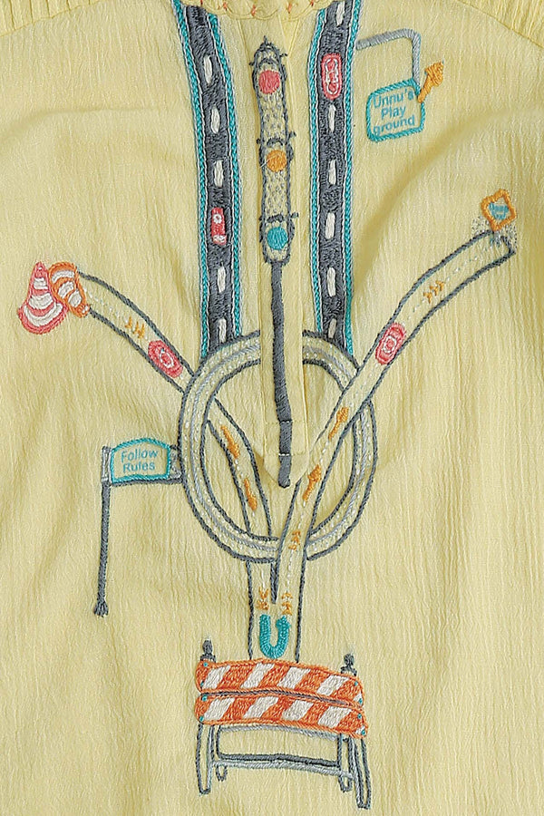 Chowk Chalk Yellow Top -UNNUSULLEE