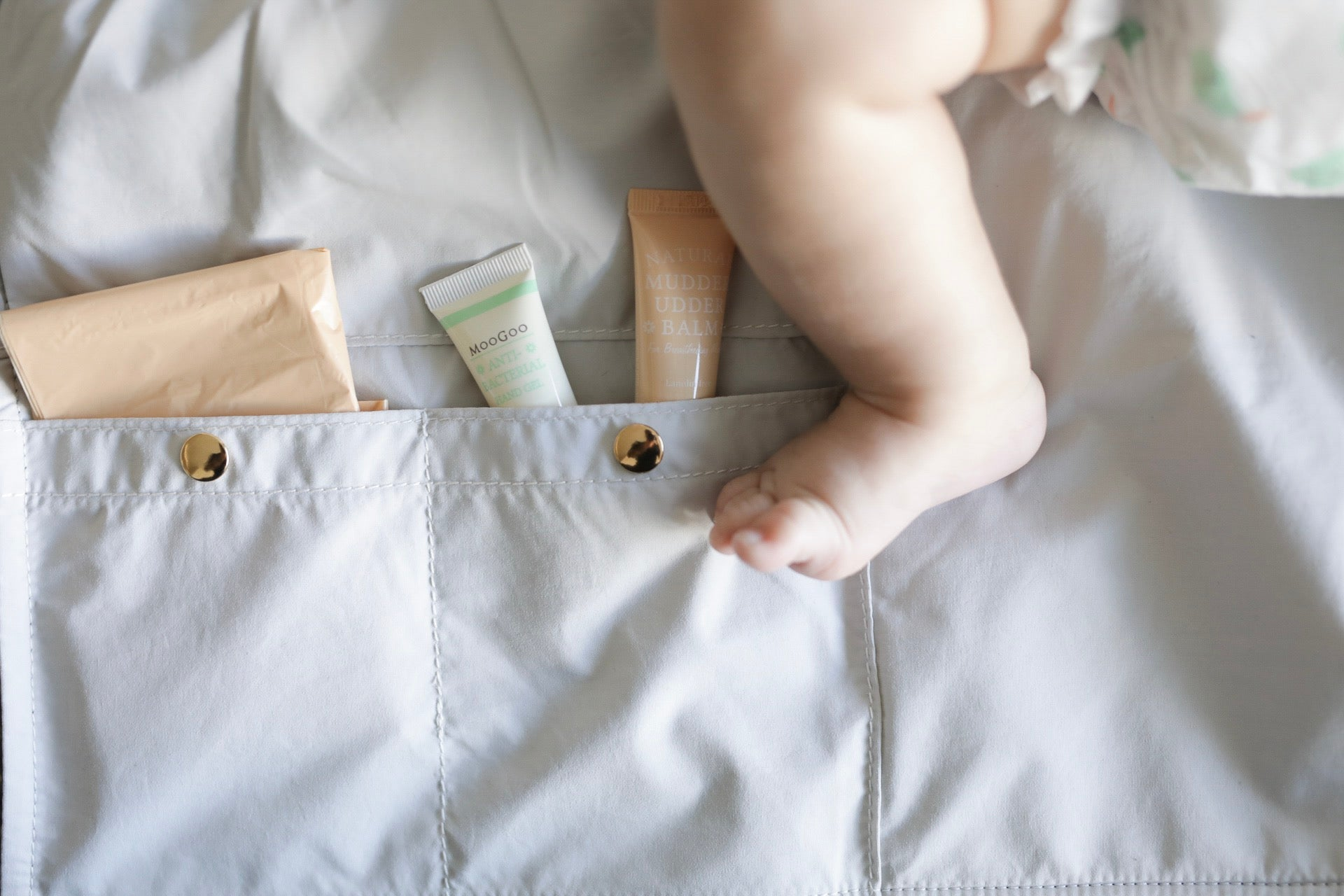 What makes the B&E Baby Nappy Change Clutch different?