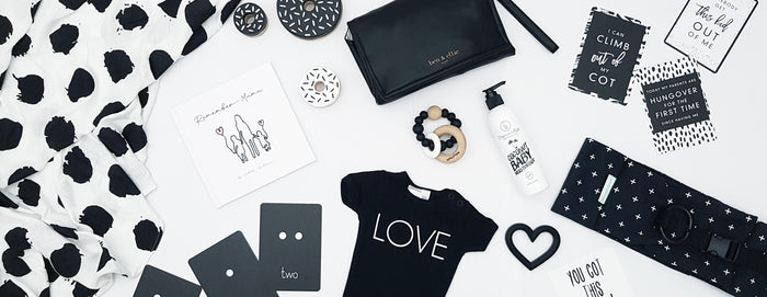 Baby Jumpie Store X Ben & Ellie Baby for monochrome loving mamas