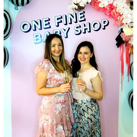Ben & Ellie Baby founders, Julie & Jessica, celebrate the launch of the One Fine Baby shop