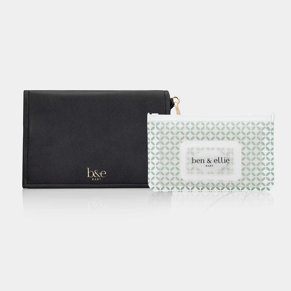 Nappy Change Clutch & Wipes Pouch Set - The Original with Sage