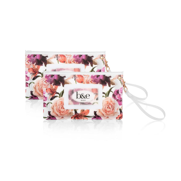 NEW! Wipes Pouch Twin Pack - Fleur