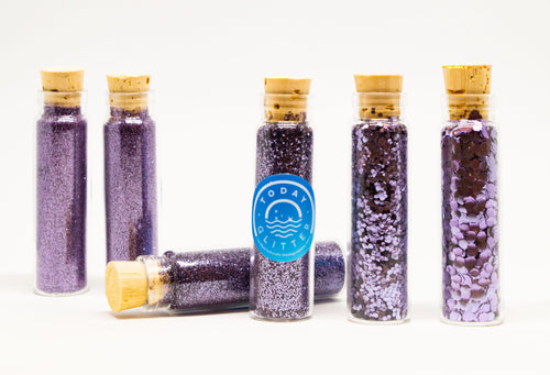 Today Glitter Fantasy Violet is Bio-glitter Sparkle Violet colour