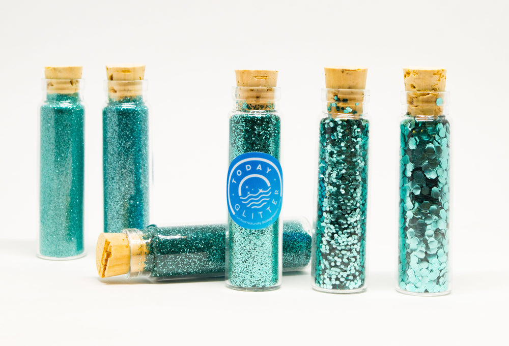 Load image into Gallery viewer, Today Glitter Mermaid Turquoise is Bio-glitter Sparkle Turquoise color