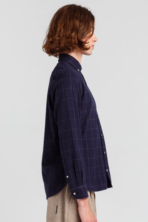 checked-navy