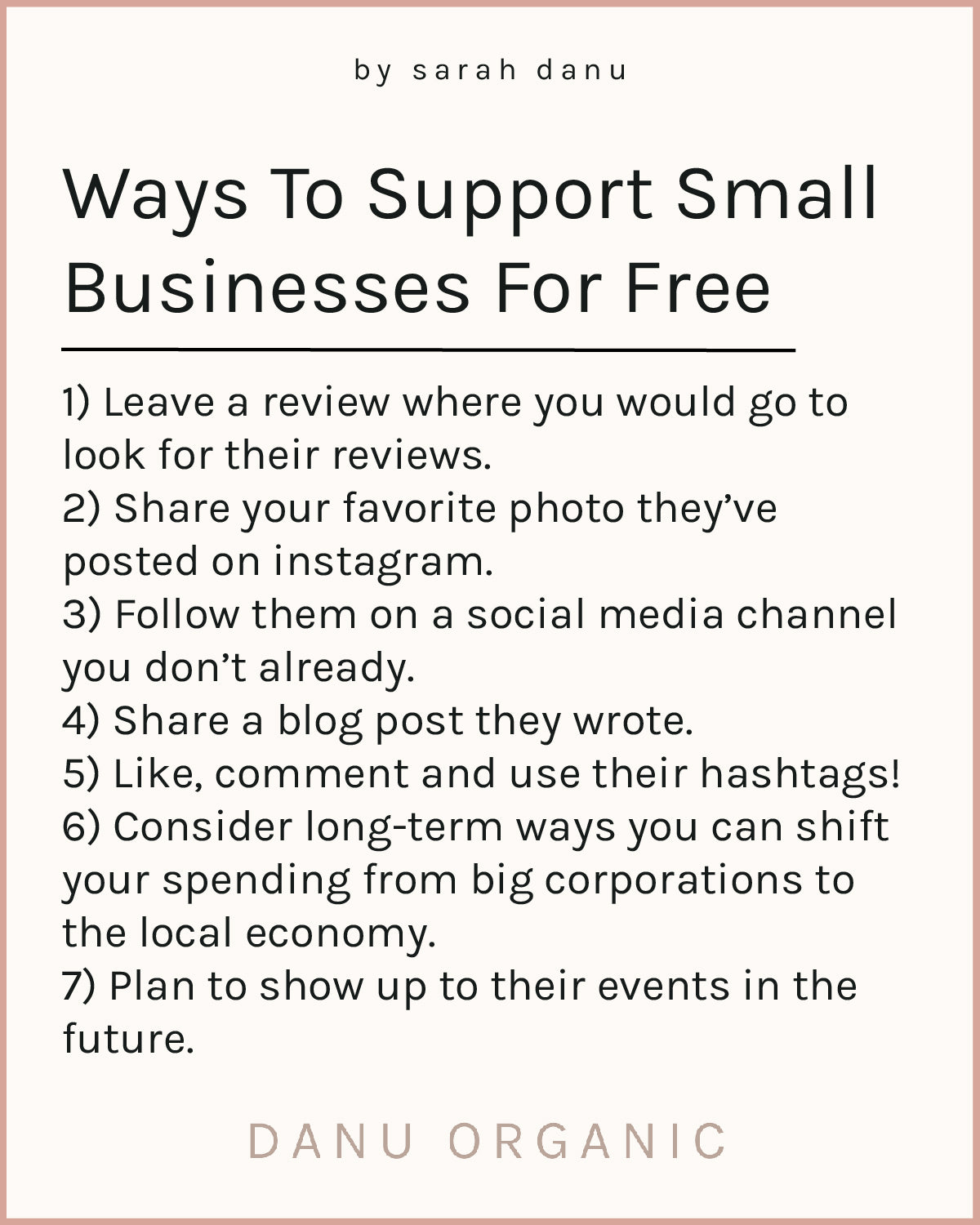 Ways To Support Small Businesses For Free
