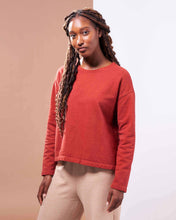 Load image into Gallery viewer, Barcelona Pullover ⁠in Organic Madder Root Red - Healthy, Sustainable Clothes by Danu Organic