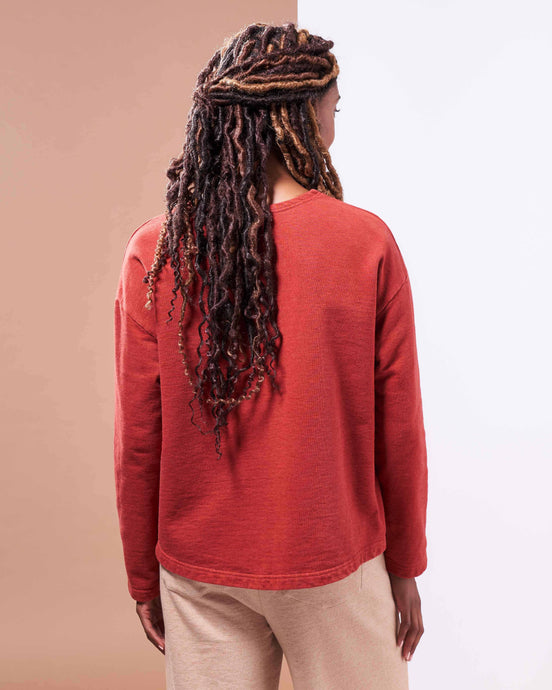 Barcelona Pullover ⁠in Organic Madder Root Red - Healthy, Sustainable Clothes by Danu Organic
