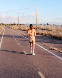 Malecón Running Shorts in Undyed Colorganic® - Healthy, Sustainable Clothes by Danu Organic