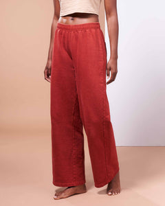 Hida Mountain Pants in Organic Madder Root Red - Healthy, Sustainable Clothes by Danu Organic