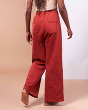 Load image into Gallery viewer, Hida Mountain Pants in Organic Madder Root Red - Danu Organic