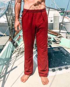 Tomales Bay Pants in Organic Madder Root Red - Healthy, Sustainable Clothes by Danu Organic