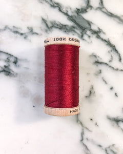 Organic Cotton Thread in Red - Healthy, Sustainable Clothes by Danu Organic