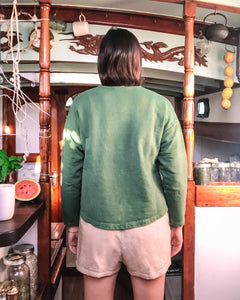Barcelona Pullover in Verdant Green - Healthy, Sustainable Clothes by Danu Organic