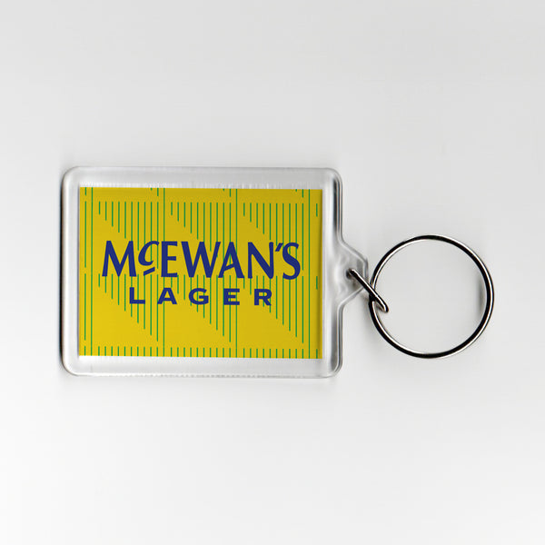 Newcastle Away Shirt 91-93 Plastic Keyring