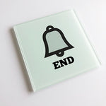 Bell End Blunt Glass Coaster
