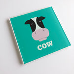 Cow Blunt Glass Coaster