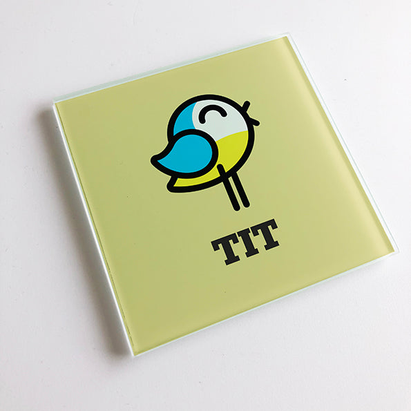 Tit Blunt Glass Coaster