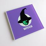 Witch Blunt Glass Coaster