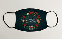 Christmas Wreath Merry Christmas Christmas Face Mask Face Covering