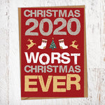 2020 Worst Christmas Ever Christmas Card Blunt Cards