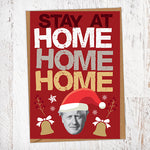 Stay at Home Home Home Christmas Card Blunt Cards