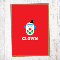 CLOWN Illustration Name Calling Card Blunt Cards