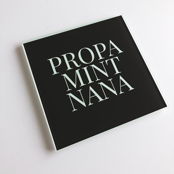 Propa Mint Nana Geordie Glass Coaster