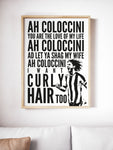 Coloccini Chant Geordie Print A5, A4, A3 A2 or A1 Sizes