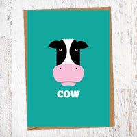 COW Illustration Name Calling Card Blunt Cards